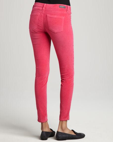 Velveteen Skinny Jeans, Pink