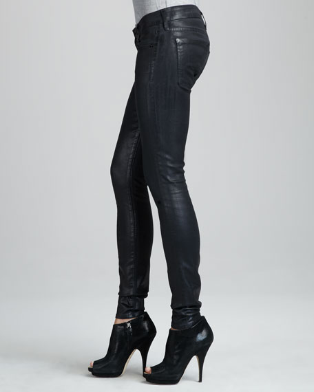 Lacquered Skinny Jeans