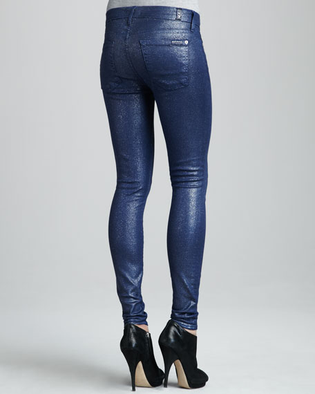 Skinny Navy Glitter Jeans