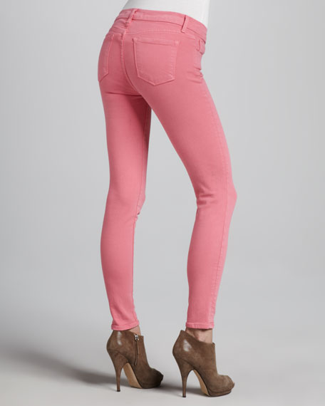 Washed Skinny Jeans, Pale Watermelon