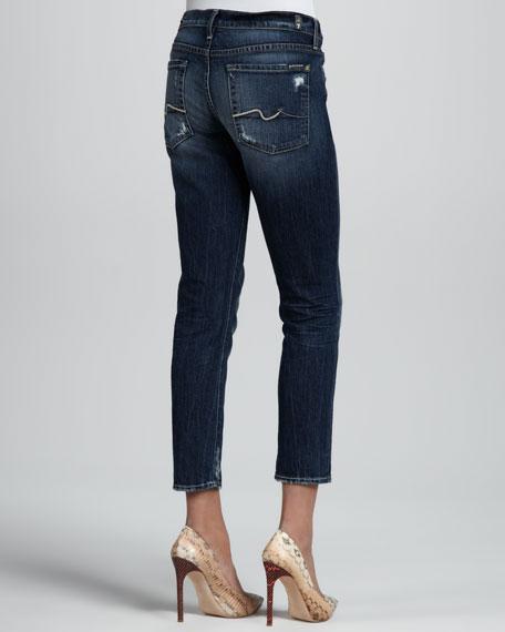Josefina Skinny Rich Dark Destroy Cropped Jeans