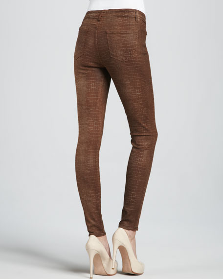 Crocodile Laser Liquid Leggings
