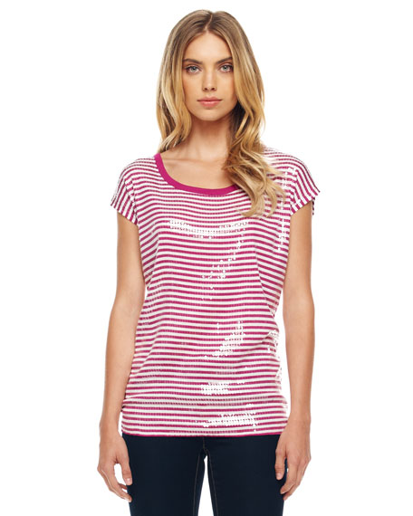 Striped Sequined Tee