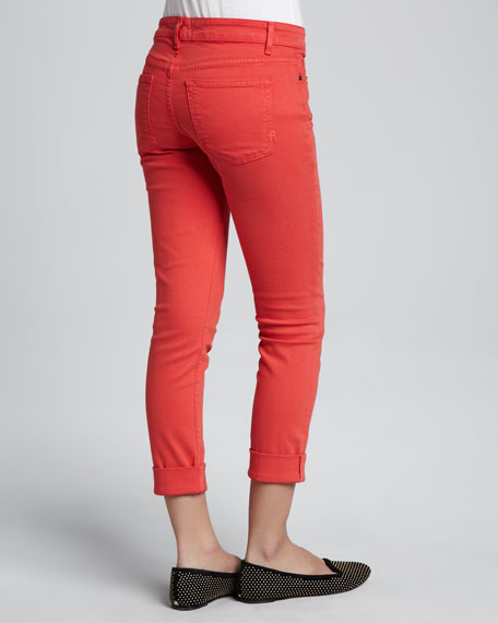 Ankle Skinny Jeans, Sergeant Coral