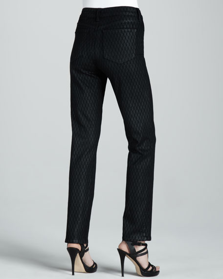 Sheri Geometric Coated Skinny Jeans