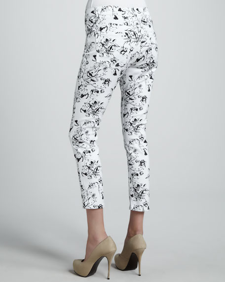Abby-Skinny Floral-Print Jeans
