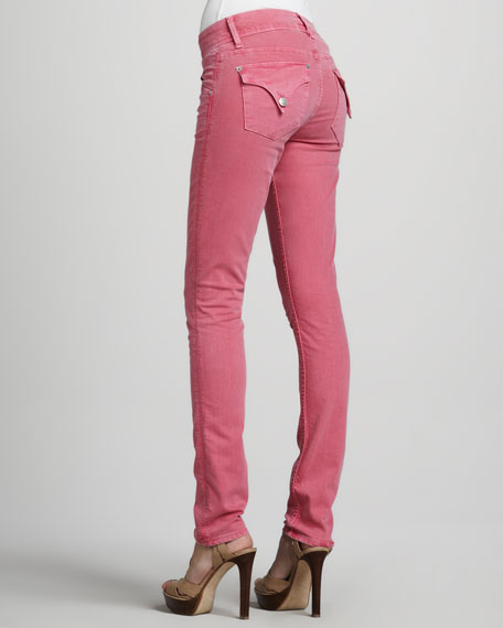 Collin Signature Skinny Jeans, Sueded Rose