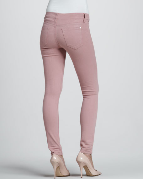 Rose Coated Skinny Jeans