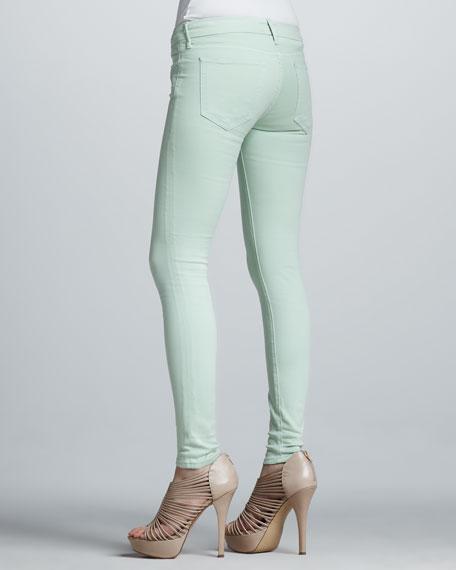 Skinny Pastel Jeans, Mint