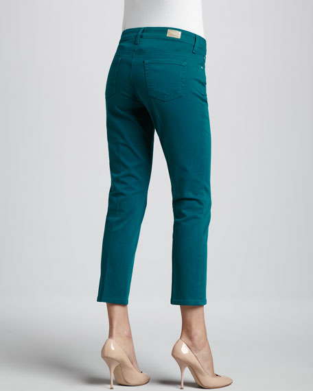 Skinny Denim Capris, Brights