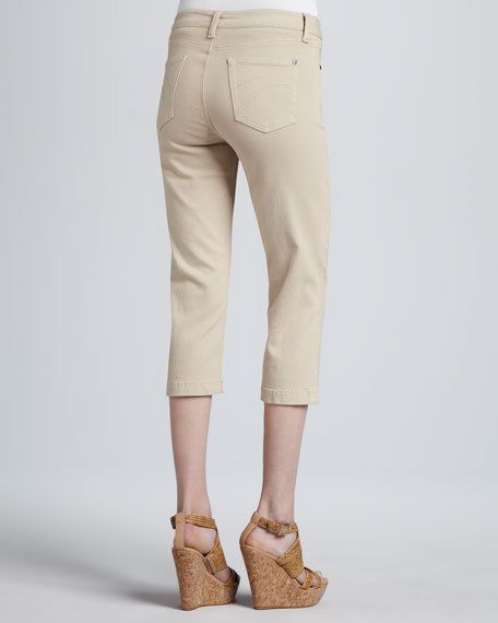 Annette Cropped Control-Panel Jeans