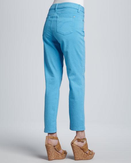 Sandra D. Skinny Control-Panel Ankle Jeans