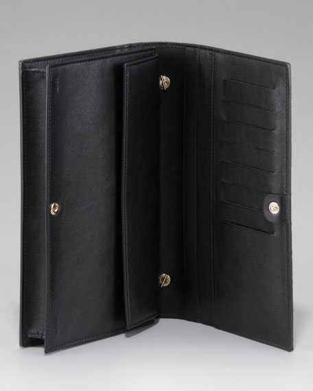 Zucca-Embossed Shoulder Wallet