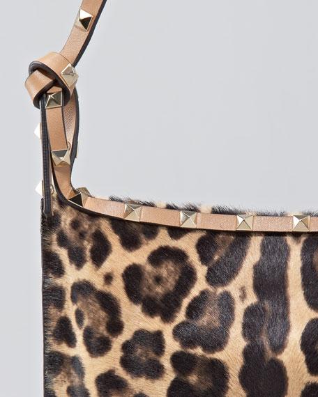 Rockstud Leopard-Print Crossbody Bag