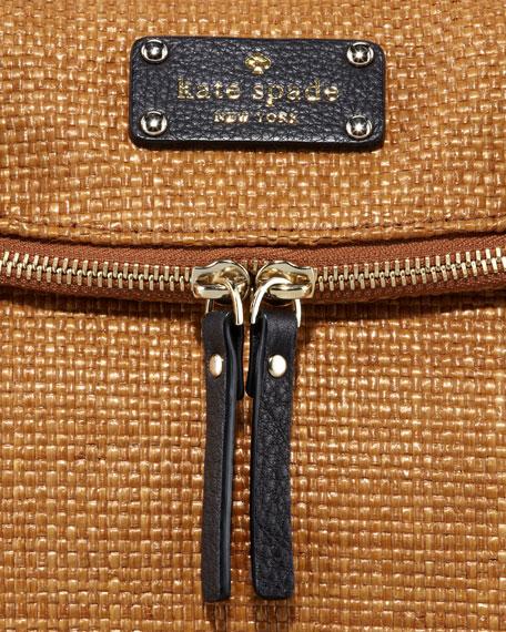 leslie cobble hill straw handbag