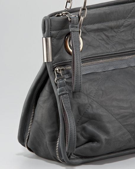 Amalia Quilted Lambskin Shoulder Bag, Medium