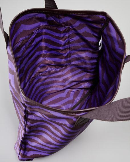 Zora Packable Striped Shopper Tote Bag