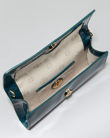 Bombe East-West Patent Clutch Bag