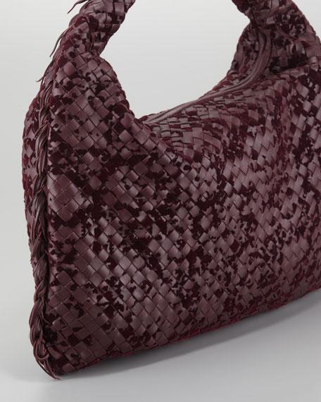 Intrecciato Velvet Large Hobo Bag