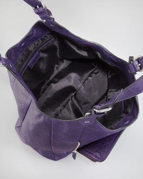 Zip Pocket-Front Shopper Tote Bag