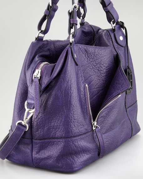 Zip Pocket-Front Satchel Bag