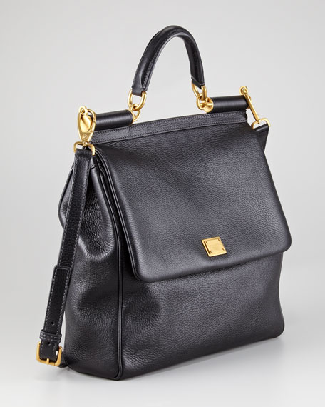 Large Flat Miss Sicily Tote Bag