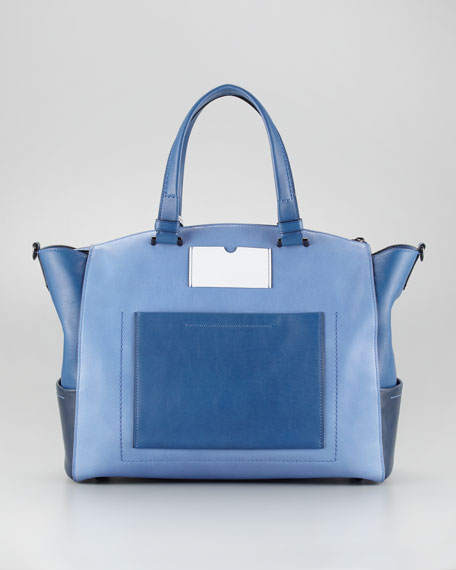 Uniform Satchel Bag, Blue Ombre