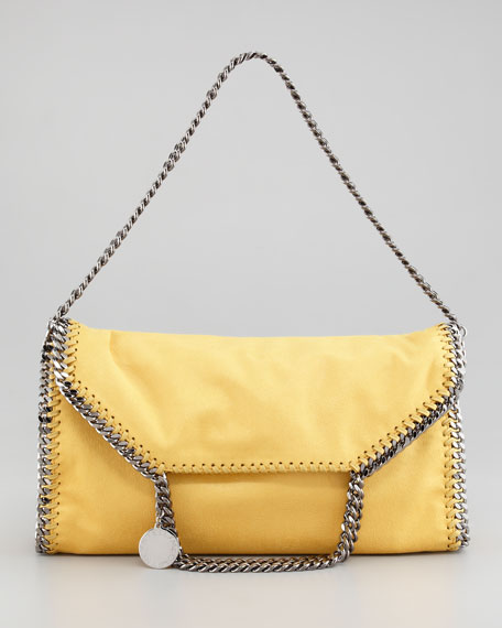 Falabella Fold-Over Tote Bag, Yellow