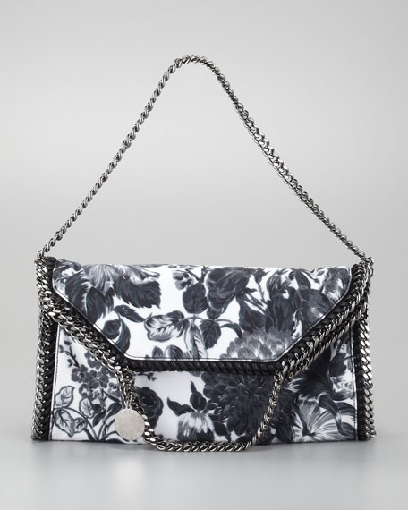 Falabella Fold-Over Floral-Canvas Tote Bag