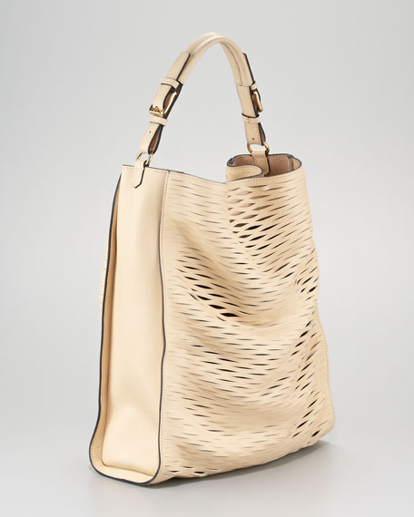 Laser-Cut Hobo Bag