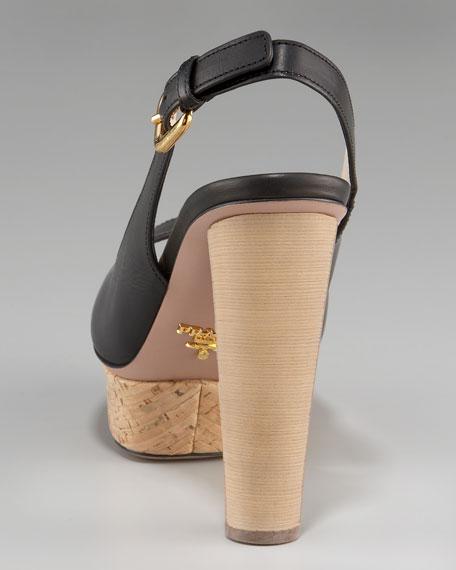 Platform Slingback Sandal