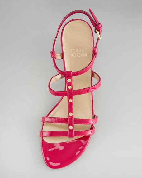 Patent-Leather Strappy Sandal