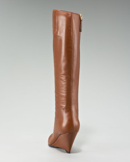 Wedge Knee Boot