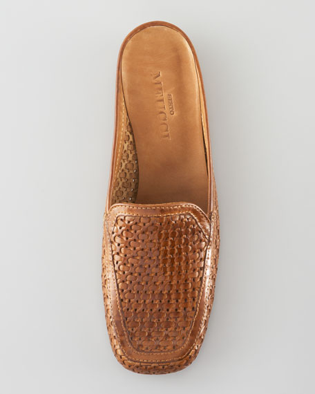 Woven Leather Mule