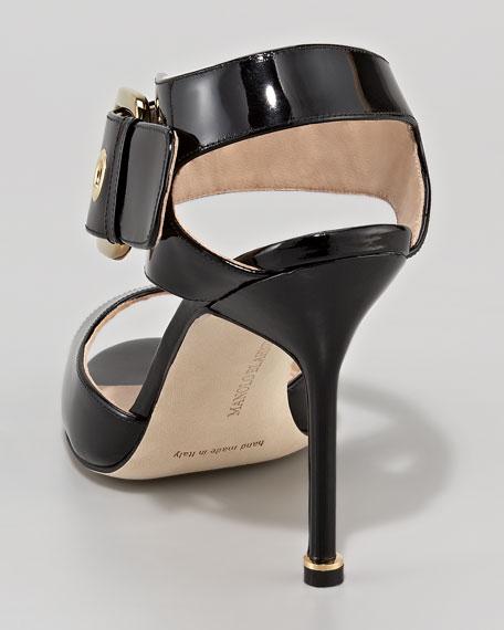 Koyina Buckled Patent Sandal