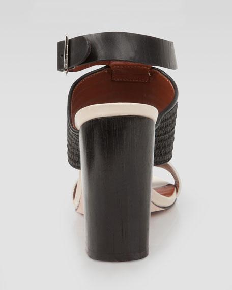 Block Ankle-Strap Sandal