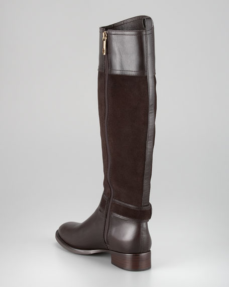 Tenley Suede & Leather Riding Boot
