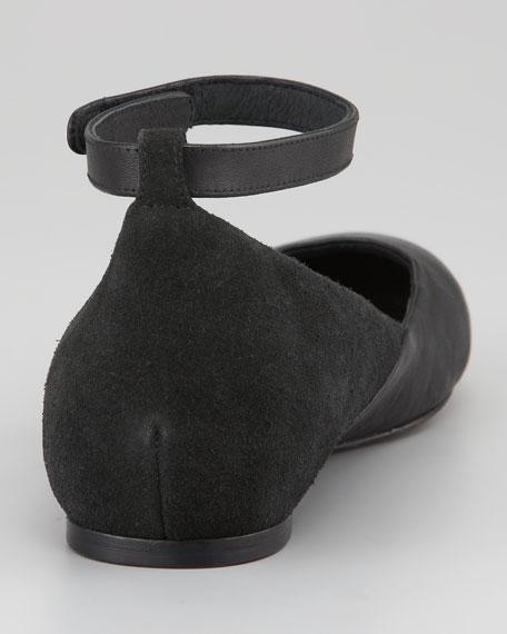 Ankle-Wrap Ballerina Flat