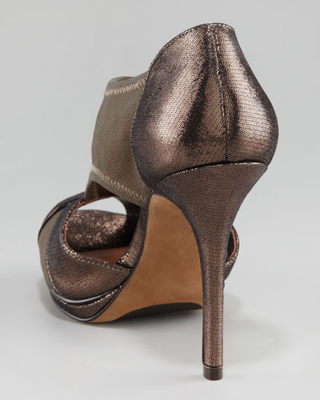 Paushamm Stretch Mesh Cutout Sandal