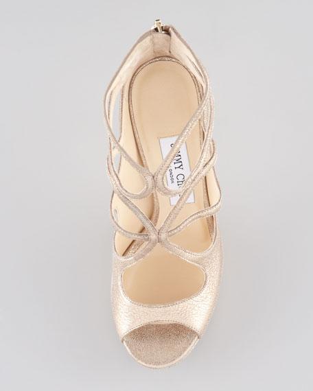 Latin Metallic Leather Sandal