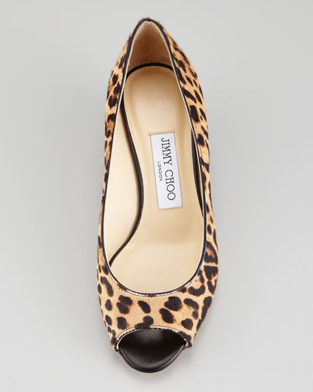 Bergen Leopard-Print Calf Hair Pump