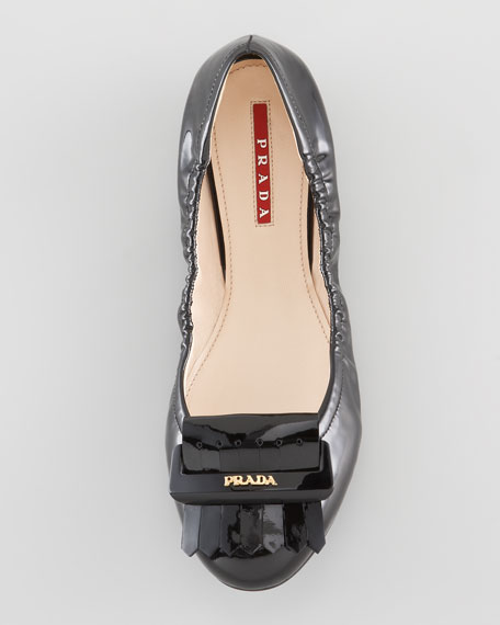 Patent Leather Fringe Ballet Flat