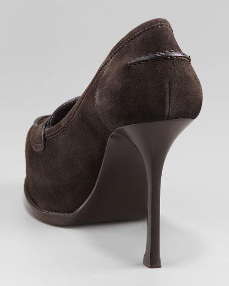 Tribtoo Suede Mid-Heel Loafer