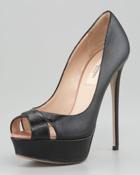 Crisscross Peep-Toe Pump