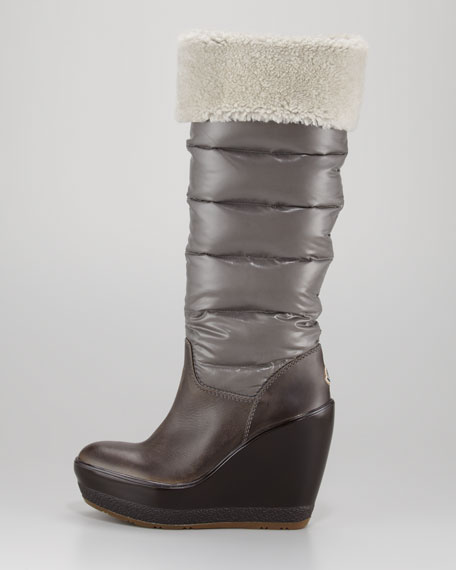 Locarno Quilted Wedge Boot