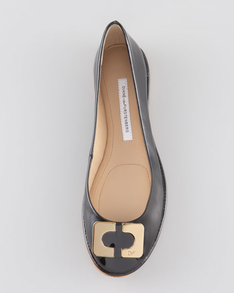 Brooke Ornamented-Toe Ballerina Flat
