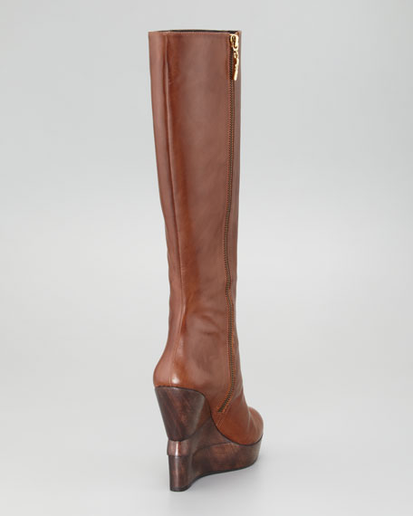 Orion Stacked Wedge Tall Boot