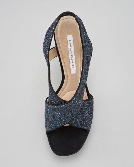 Zia Glitter Slingback Sandal