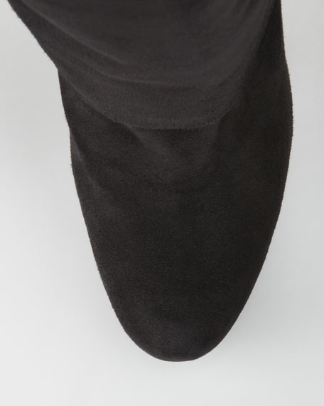 Spats Suede Button Knee Boot