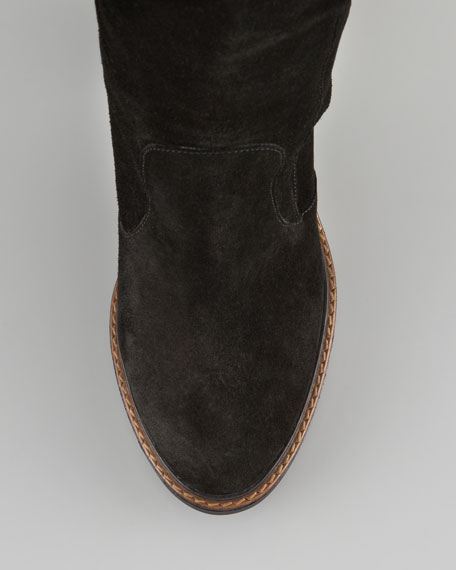 Yorkshire Buckled Suede Knee Boot